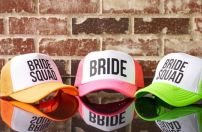 Neon Bride Squad hats