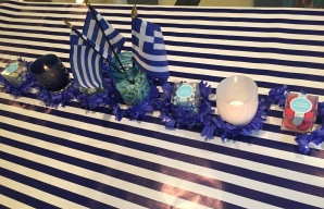 Greek Night Tablescape