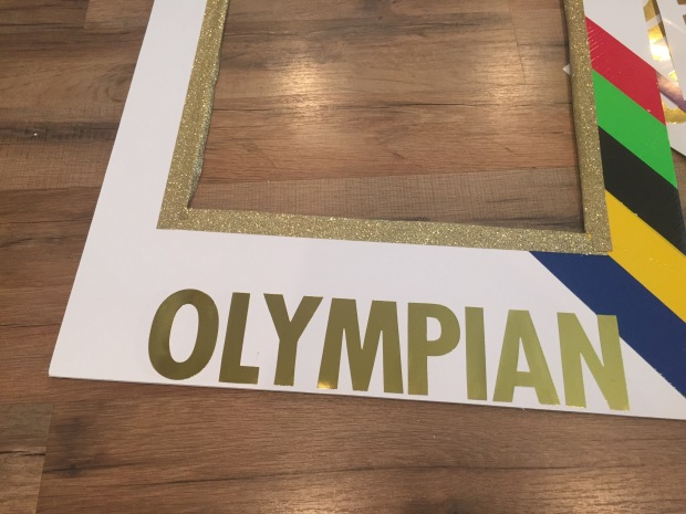 Olympic Sign_gold letters
