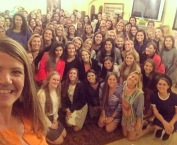 Sisterhood selfie with the Rollins KDs