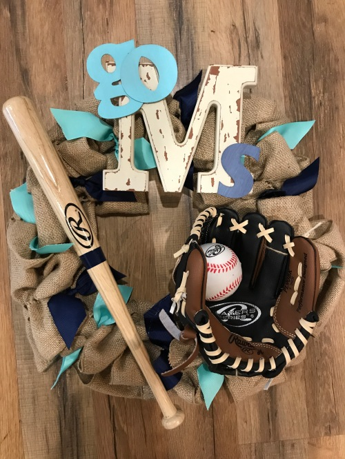 baseball wreath 2