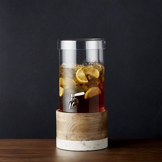 cold-drink-dispenser-with-wood-marble-stand